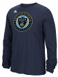 "Philadelphia Union Adidas MLS ""Logo Set"" Men's Long Sleeve T-Shirt"