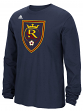 "Real Salt Lake Adidas MLS ""Logo Set"" Men's Long Sleeve T-Shirt"