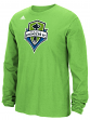 "Seattle Sounders Adidas MLS ""Logo Set"" Men's Long Sleeve T-Shirt"