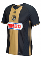 Philadelphia Union Adidas MLS Climalite On-Field Replica Short Sleeve Jersey