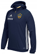 "Los Angeles Galaxy Adidas MLS ""Travel"" Men's On Field Pullover Hooded Sweatshirt"