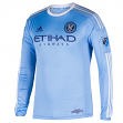 New York City FC Adidas MLS Men's Authentic On-Field Climalite L/S Jersey