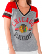 "Chicago Blackhawks Women's G-III NHL ""Break Away"" Tri-blend V-neck T-shirt"