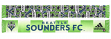 """Seattle Sounders Adidas MLS """"Repeating Logo"""" Polyester Team Scarf"""