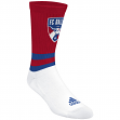 "FC Dallas Adidas MLS ""Team Logo on Color"" Jacquard Men's Crew Socks"