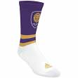 "Orlando City SC Adidas MLS ""Team Logo on Color"" Jacquard Men's Crew Socks"