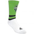 "Seattle Sounders Adidas MLS ""Team Logo on Color"" Jacquard Men's Crew Socks"