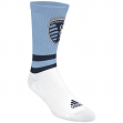 "Sporting Kansas City Adidas MLS ""Team Logo on Color"" Jacquard Men's Crew Socks"
