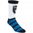 "San Jose Earthquakes Adidas MLS ""Team Logo on White"" Jacquard Men's Crew Socks"