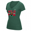 "Minnesota Wild Women's Reebok NHL ""Stacked Stripe"" Tri-Blend Premium T-shirt"