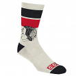 Chicago Blackhawks CCM NHL Striped Logo Men's Crew Length Off White Socks