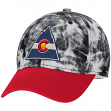 "Colorado Rockies CCM NHL ""Acid Washed"" Structured Flex-Fit Hat"