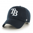 Tampa Bay Rays 47 Brand MLB Clean Up Navy Adjustable Hat