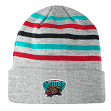 "Vancouver Grizzlies Mitchell & Ness NBA ""Team Stripes"" Cuffed Premium Knit Hat"