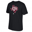 "Texas A&M Aggies Adidas NCAA ""Logo Tech"" Men's Black T-Shirt"