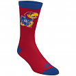 "Kansas Jayhawks Adidas NCAA ""Campus 2 Tone"" Jacquard Men's Socks"