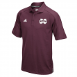 """Mississippi State Bulldogs Adidas NCAA """"Sideline"""" Climalite Polo Shirt - Maroon"""