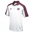 "Texas A&M Aggies Adidas NCAA ""Sideline"" Climalite Polo Shirt - White"