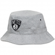 Brooklyn Nets Mitchell & Ness NBA Grey Fleece Bucket Hat