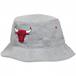 Chicago Bulls Mitchell & Ness NBA Grey Fleece Bucket Hat