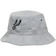 San Antonio Spurs Mitchell & Ness NBA Grey Fleece Bucket Hat