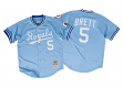George Brett Kansas City Royals Mitchell & Ness Authentic 1985 Button Up Jersey
