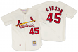 Bob Gibson St. Louis Cardinals Mitchell & Ness Authentic 1967 Button Up Jersey