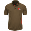 """Cleveland Browns Majestic NFL """"Field Classic 2"""" Men's Short Sleeve Polo Shirt"""