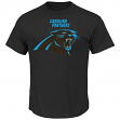 "Carolina Panthers Majestic NFL ""Critical Victory 2"" Men's T-Shirt - Black"