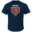 "Chicago Bears Majestic NFL ""Critical Victory 2"" Men's T-Shirt - Navy"