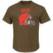 "Cleveland Browns Majestic NFL ""Critical Victory 2"" Men's T-Shirt - Brown"