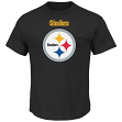 """Pittsburgh Steelers Majestic NFL """"Critical Victory 2"""" Men's T-Shirt - Black"""