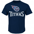 """Tennessee Titans Majestic NFL """"Critical Victory 2"""" Men's T-Shirt - Navy"""