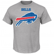 "Buffalo Bills Majestic NFL ""Critical Victory 2"" Men's T-Shirt - Gray"