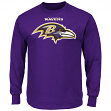 "Baltimore Ravens Majestic NFL ""Critical Victory 2"" Men's Long Sleeve T-Shirt"