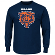 """Chicago Bears Majestic NFL """"Critical Victory 2"""" Men's Long Sleeve T-Shirt"""
