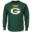 """Green Bay Packers Majestic NFL """"Critical Victory 2"""" Men's Long Sleeve T-Shirt"""