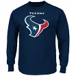 "Houston Texans Majestic NFL ""Critical Victory 2"" Men's Long Sleeve T-Shirt"