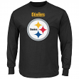 Pittsburgh Steelers Majestic Critical Victory 2 Men's Long Sleeve Black T-Shirt