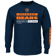 Chicago Bears Majestic NFL Primary Receiver 2 Long Sleeve Men's T-Shirt