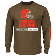 Cleveland Browns Majestic NFL Primary Receiver 2 Long Sleeve Men's T-Shirt