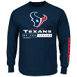 Houston Texans Majestic NFL Primary Receiver 2 Long Sleeve Men's T-Shirt