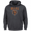 "Chicago Bears Majestic NFL ""Kick Return 2"" Men's Charcoal Hooded Sweatshirt"