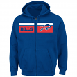 "Buffalo Bills Majestic NFL ""Touchback"" Men's Full Zip Hooded Sweatshirt"