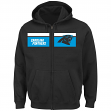 "Carolina Panthers Majestic NFL ""Touchback"" Men's Full Zip Hooded Sweatshirt"