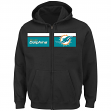 "Miami Dolphins Majestic NFL ""Touchback"" Men's Full Zip Hooded Sweatshirt"