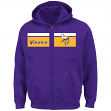 "Minnesota Vikings Majestic NFL ""Touchback"" Men's Full Zip Hooded Sweatshirt"