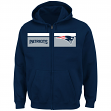 "New England Patriots Majestic NFL ""Touchback"" Men's Full Zip Hooded Sweatshirt"