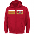 "San Francisco 49ers Majestic NFL ""Touchback"" Men's Full Zip Hooded Sweatshirt"