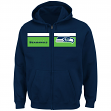 "Seattle Seahawks Majestic NFL ""Touchback"" Men's Full Zip Hooded Sweatshirt"